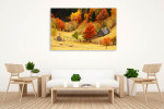 Mountain and Sheeps Wall Canvas Print on the wall