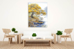 Old Yellowed Tree Art Print on the wall