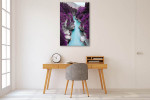 Purple Pine Forest Canvas Print on the wall