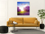 Spring Lilac Canvas Arts Print on the wall