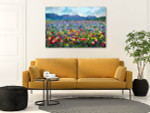 Summer Rural Landscape Canvas Art Print on the wall