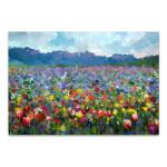 Summer Rural Landscape Canvas Art Print