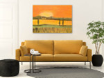 Sunset In Tuscany Canvas Print on the wall