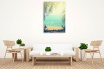 Tropical Background Wall Print on the wall