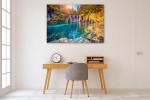 Turquoise And Sunny Beam Canvas Print on the wall