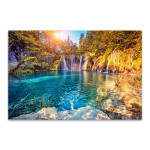Turquoise And Sunny Beam Canvas Print
