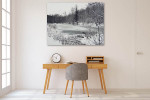 Winter Nature Trees Canvas Art Print on the wall