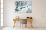 Winter Park Canvas Art Print on the wall