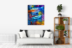 Boats And Sea Wall Print on the wall