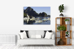Fishing Village Canvas Print on the wall