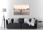 Hipster Man Cycling Canvas Print on the wall