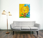 Sleeping Moon And Sun Art Print on the wall