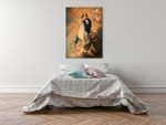 Virgin Mary With Angels Art Print on the wall