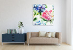 Bouquet Flowers Wall Art Print on the wall