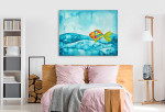 Colourful Fishes Canvas Art Print on the wall