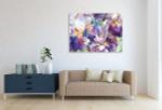 Flower Garden Canvas Art Print on the wall