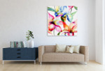 Lily and Iris Canvas Art Print on the wall