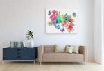 Rainbow Chameleon Canvas Print on the wall