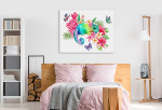 Rainbow Chameleon Canvas Print on the wall