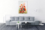 Watercolour Of Poppies Wall Print on the wall