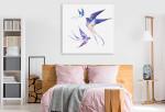 Watercolour Swallows Wall Art Print on the wall
