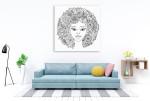 Abstract Hair Wall Art Print on the wall