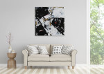 Brooke Howie | Black and White Abstract on the wall