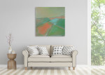Brooke Howie | Coral and Green Landscape on the wall