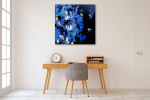 Brooke Howie | Indigo Abstract on the wall