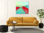 Brooke Howie | Red and Turquoise Abstract Landscape on the wall