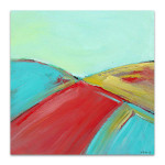 Brooke Howie | Red and Turquoise Landscape
