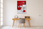 Brooke Howie | Red and White Abstract on the wall