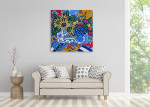 Brooke Howie | Sunflowers and Pansies on the wall