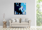 Brooke Howie | Turquoise Abstract on the wall