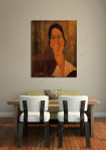 Jeanne Hebuterne with White Collar on the wall