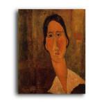 Modigliani   Jeanne Hebuterne with White Collar