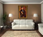 Portrait of Mario Varvogli on the wall