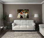 Still Life with Apples and Oranges on the wall