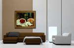 Still life with Plate of Cherries on the wall