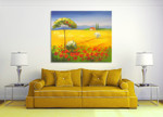 Golden Field on the wall