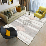 Champagne Geometric Patterned Rug