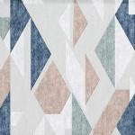 Peach Geometric Patterned Rug