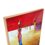African Women   Red African Art  Oil on Canvas for Hotel Lobbies