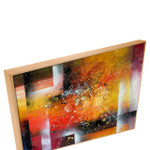 Enigma   Yellow Abstract Art Oil Painting Art Canvas for Hallways