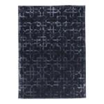 Black Grey Geometric Patterned Rug