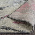 Red Grey Ink Nordic Modern Rugs