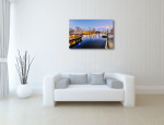 Melbourne Canvas Print Yarra River at Night  on the wall