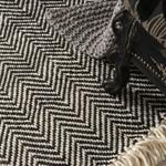 Black Triangular Geometric Patterned Rug