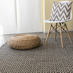 Black White Geometric Patterned Rugs