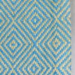 Blue Moss Diamond Geometric Patterned Rugs
